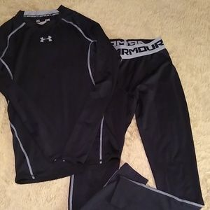 Under Armour Small Compression Top & Pants